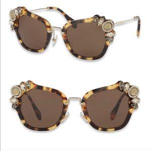 Miu Miu Runway Jewel Sunglasses